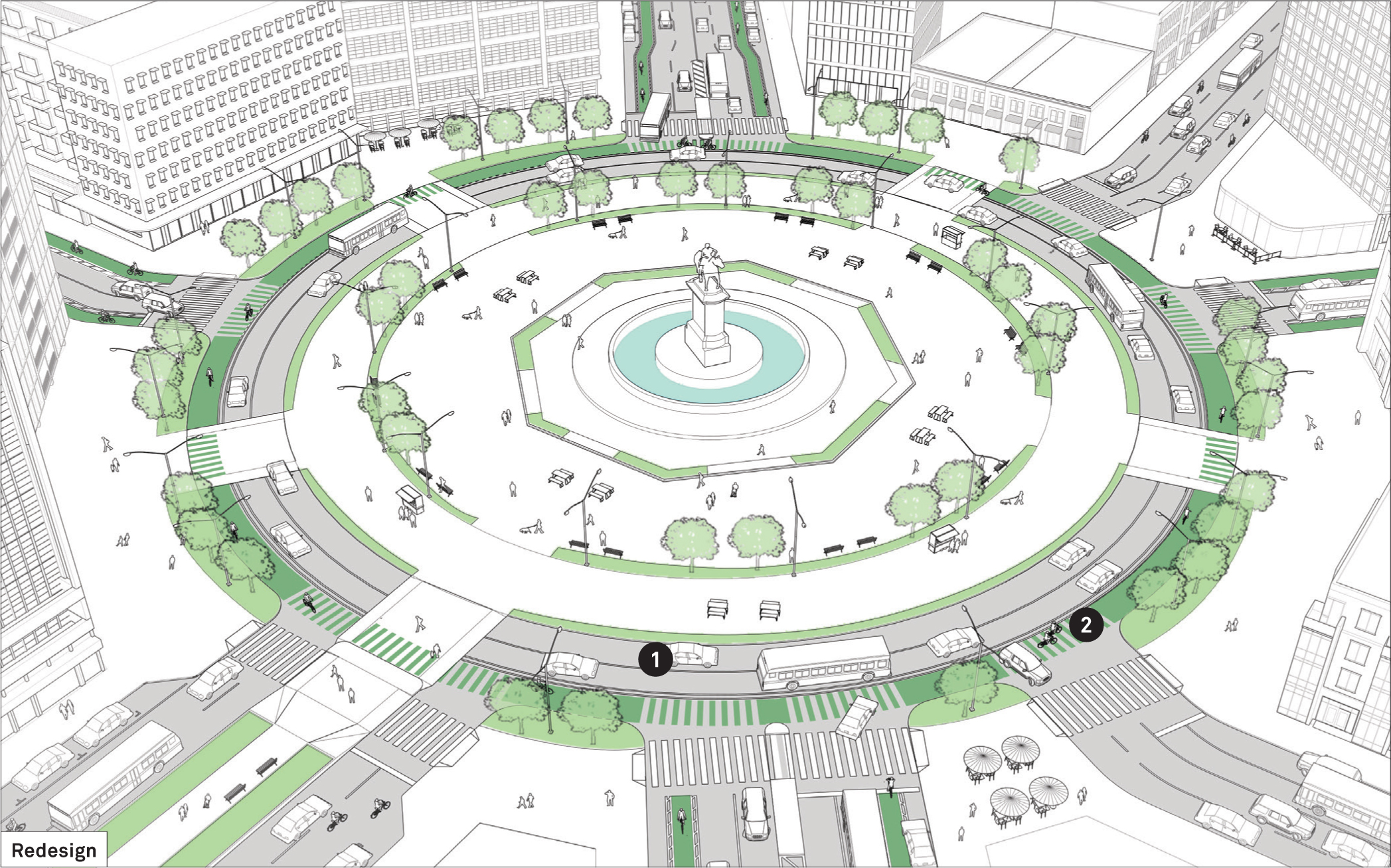 Complex Intersection: Improving Traffic Circles | Global Designing ...