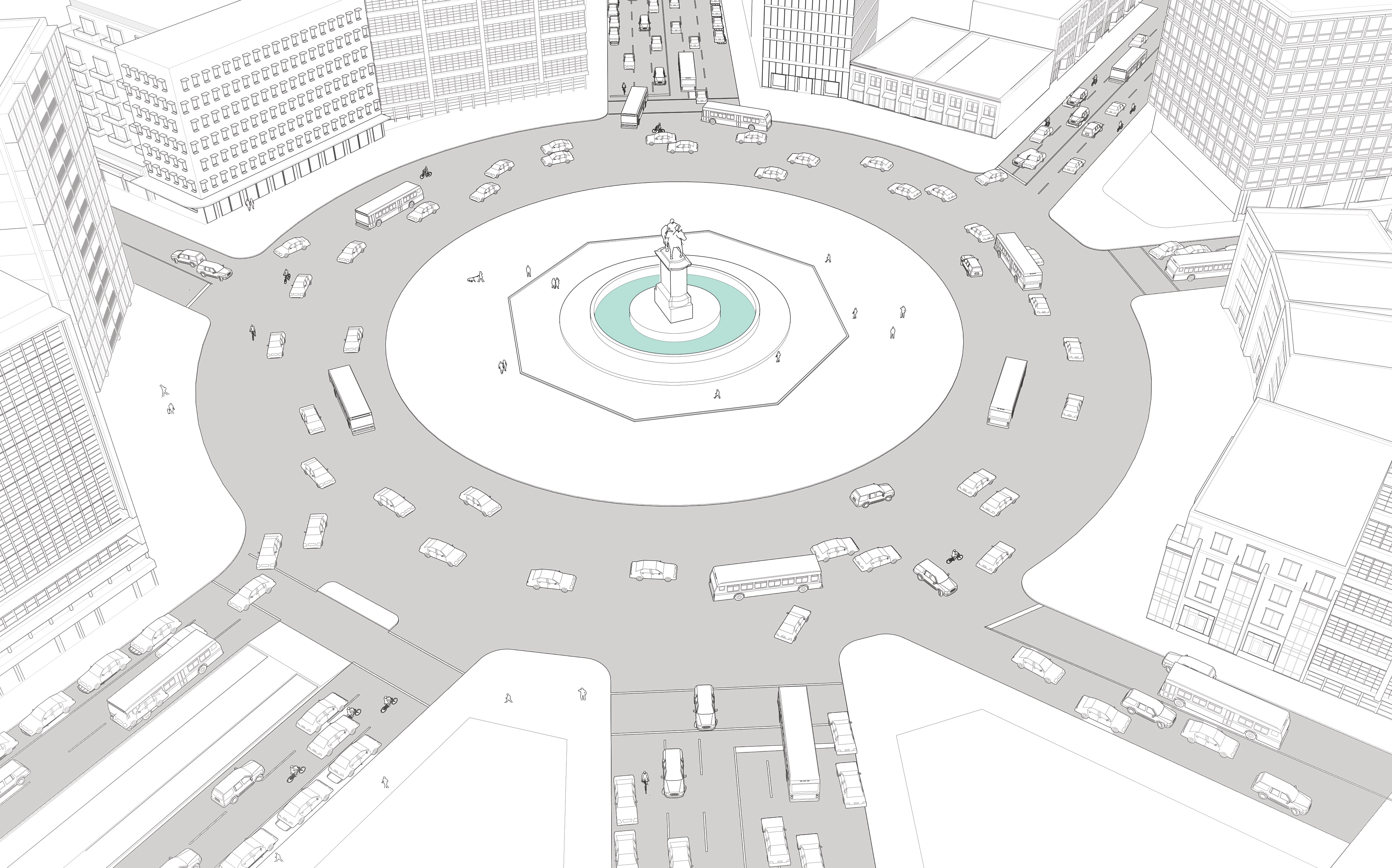 Complex Intersection: Improving Traffic Circles |