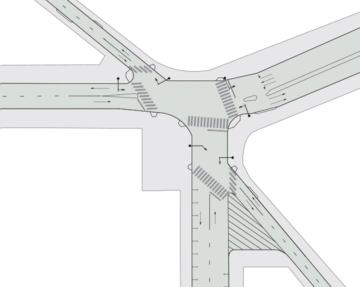 Intersection Analysis Global Designing Cities Initiative Traffic Signal Diagram Also Blank Signs And Markings